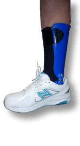 Blue orthosis at Applied Biomechanics