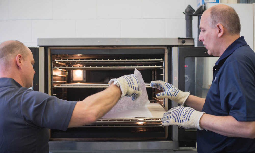 Putting the cast in the oven at Applied Biomechanics